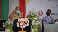 Walikota Kupang memberikan sambutan